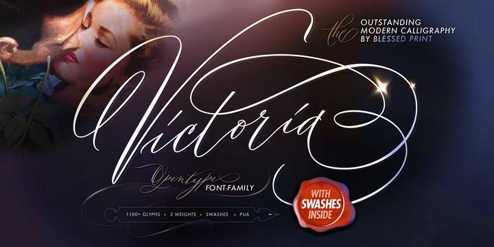 Outstanding_Victoria手写连笔签名英文字体下载