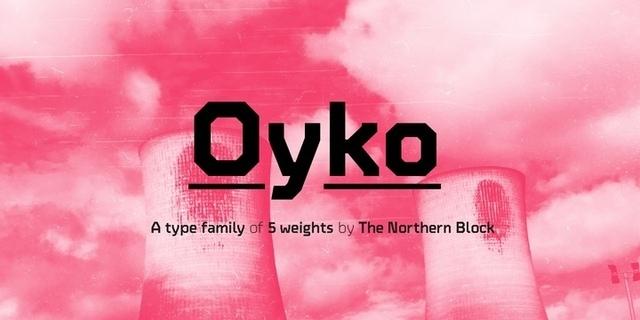 Oyko现代设计大气排版logo英文字体下载