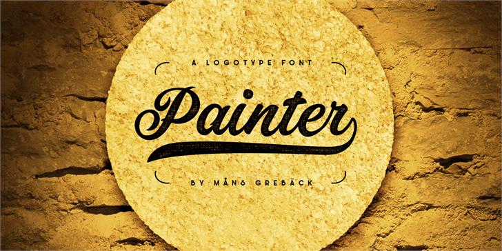 Painter笔刷手写海报英文字体下载