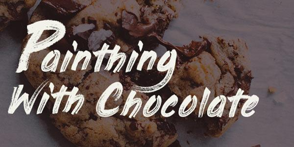 PaintingWithChocolate手写笔刷肌理摄影海报英文字体下载
