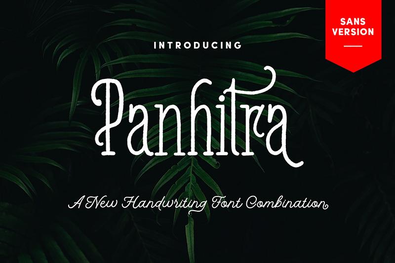 Panhitra圆润手写手绘创意英文字体下载