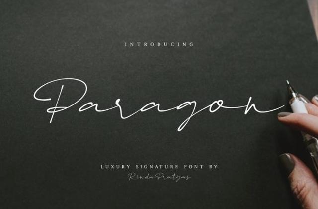 Paragon手写连笔纹身艺术钢笔英文字体下载