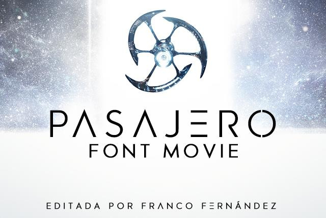 Pasajero创意科幻海报logo英文字体下载