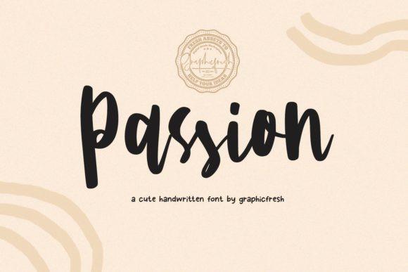 Passion大气手写书法连笔英文字体下载