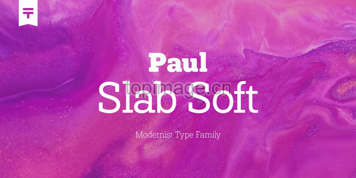 Paul Slab现代好看的logo英文字体下载