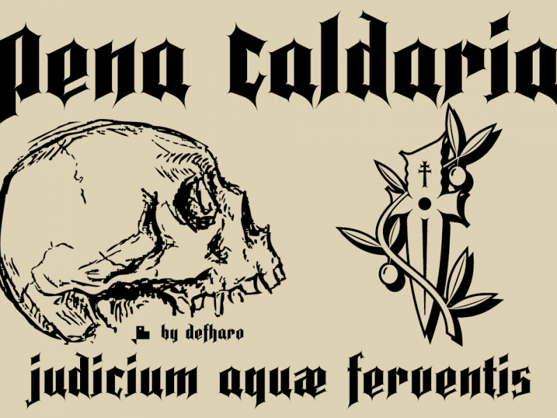 Pena Caldaria个性哥特纹身英文字体下载