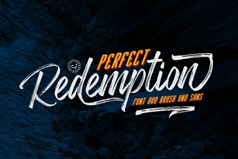 PerfectRedemption书法笔触毛笔大气流畅英文字体下载