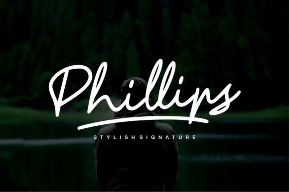 Phillips钢笔手写手绘连笔英文字体下载
