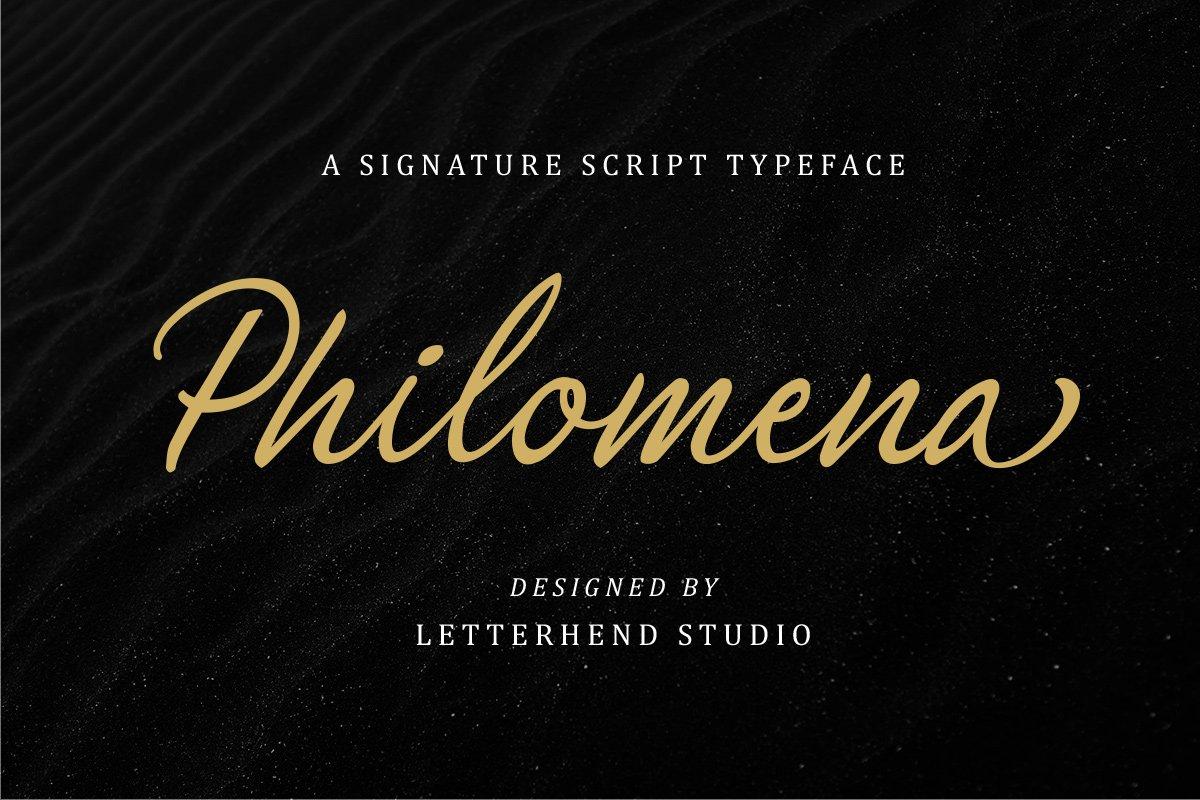 Philomena手写连笔网红签名艺术字体下载