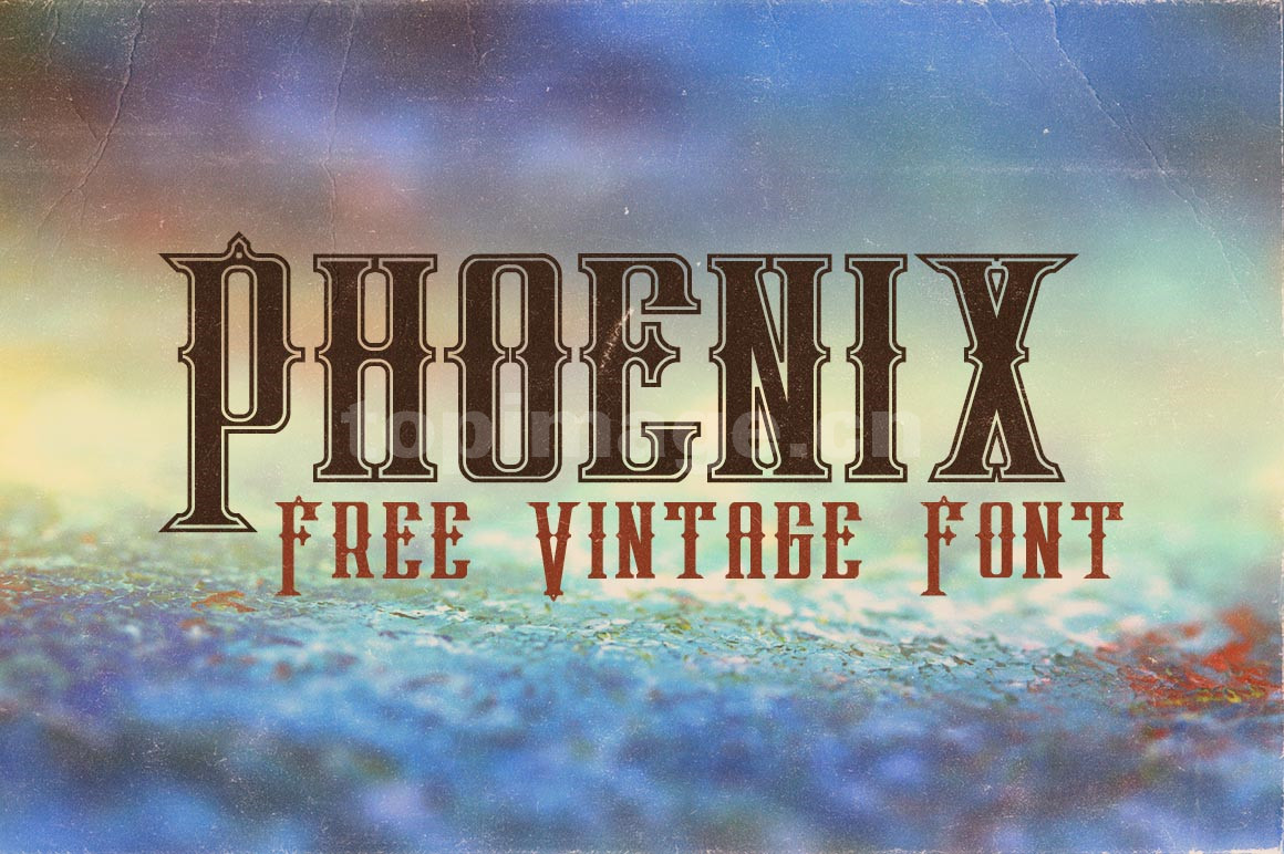 Phoenix复古罗马哥特式衬线海报英文字体下载