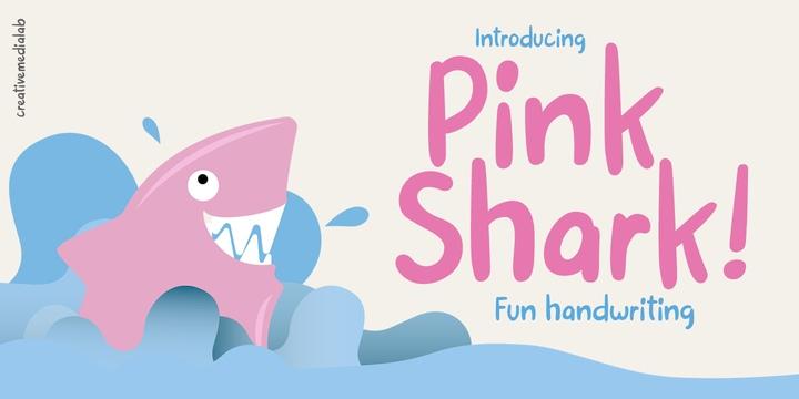 PinkShark手写趣味卡通涂鸦英文字体下载