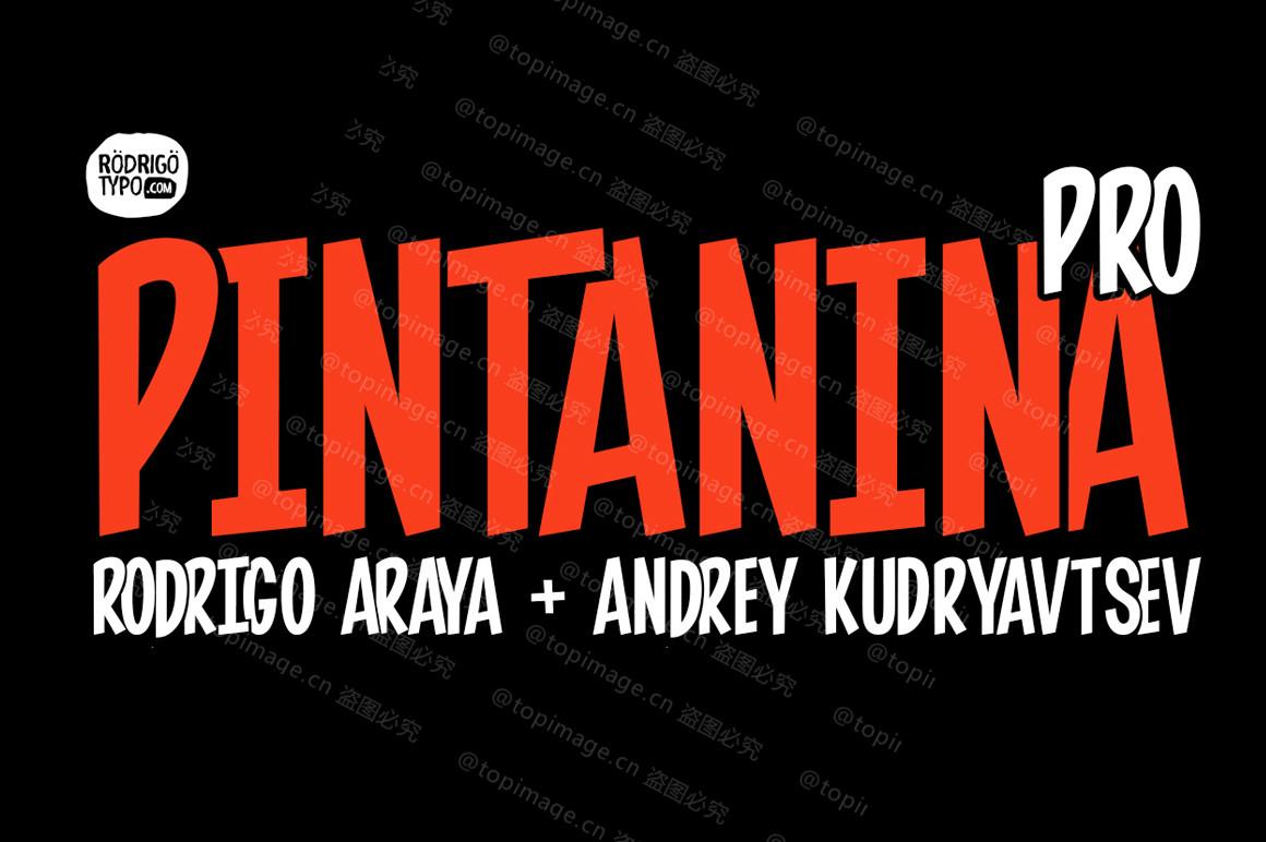 Pintaninapro卡通手绘pop海报英文字体下载