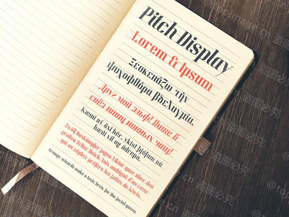 PitchDisplay衬线文艺排版英文字体下载