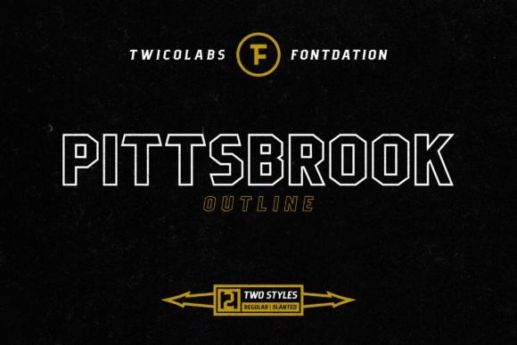 Pittsbrook创意线性无衬线空心英文字体下载