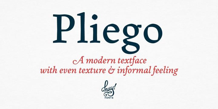 Pliego影视海报门店logo设计衬线英文字体下载