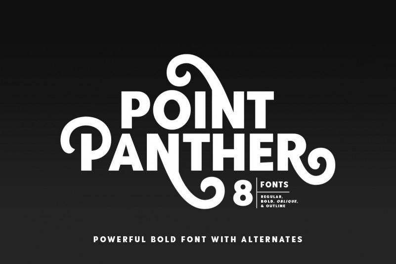 PointPanther个性创意现代花体英文字体下载