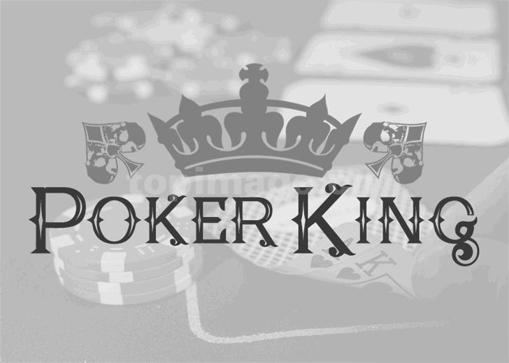 PokerKings复古简约哥特式质感艺术英文字体下载