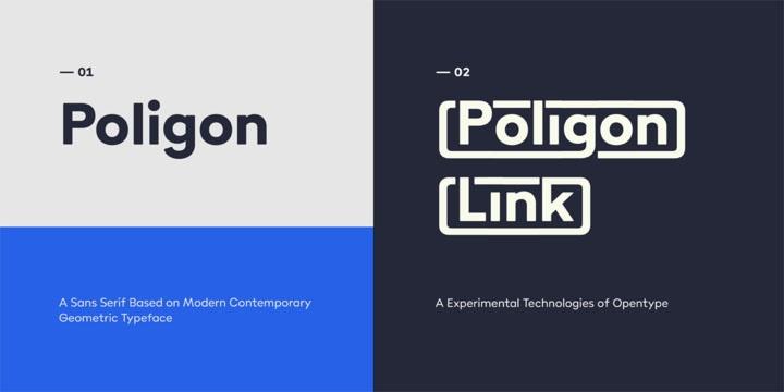 Poligon现代无衬线sans serif经典logo英文字体下载