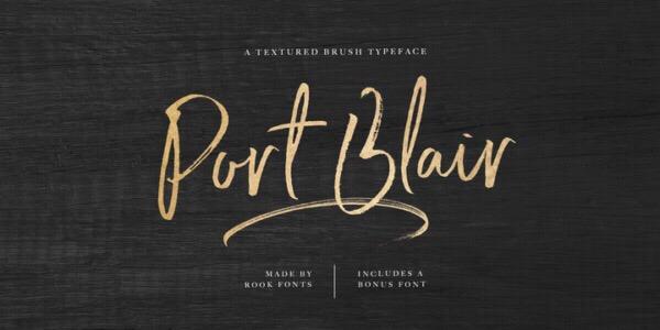 PortBlair书法笔触大气英文字体下载