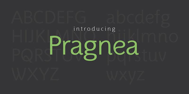 Pragnea时尚logo杂志排版圆润英文字体下载