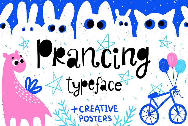 Prancing趣味卡通手绘涂鸦英文字体下载