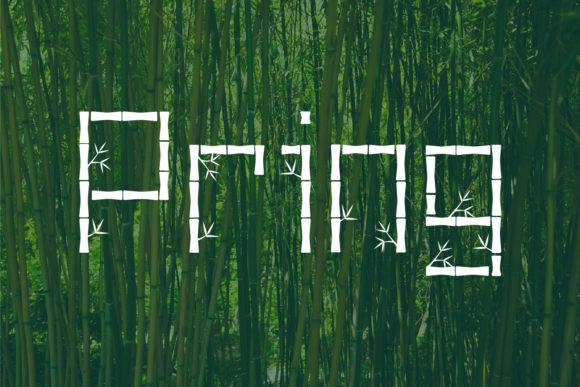 Pring个性竹子拼接英文字体下载