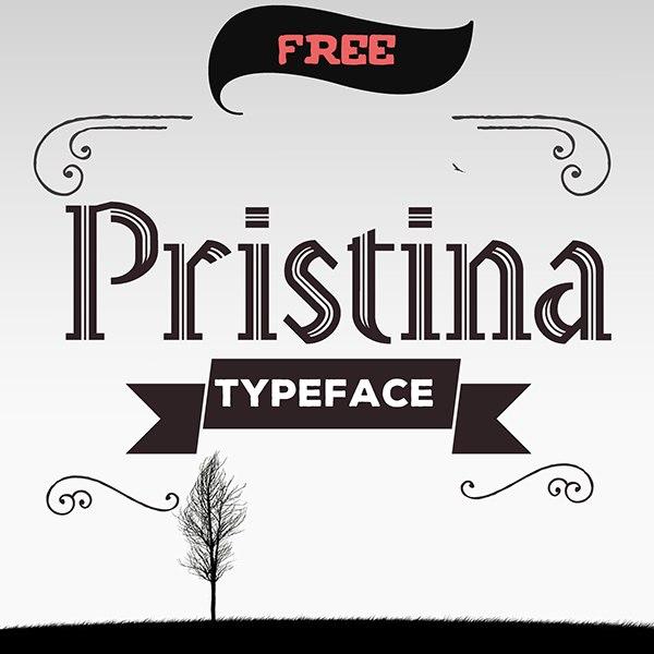 Pristina现代创意简洁logo英文字体下载