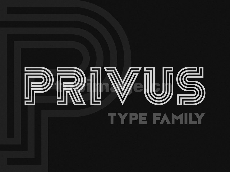 Privus海报logo英文字体下载