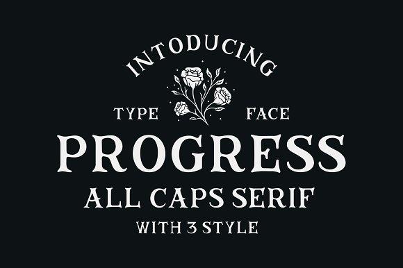 Progress衬线个性logo英文字体下载