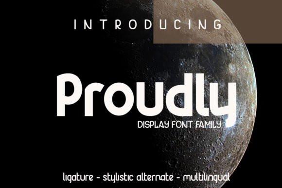 Proudly排版logo设计师平面英文字体下载