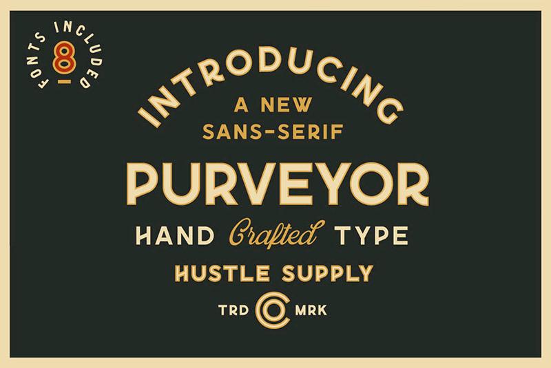Purveyor现代英文字体下载