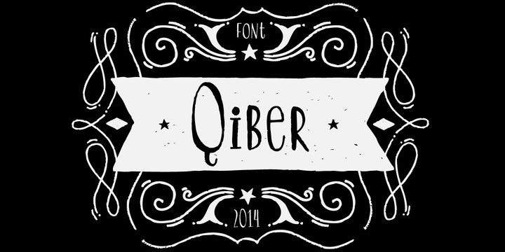 Qiber手写卡通字体下载