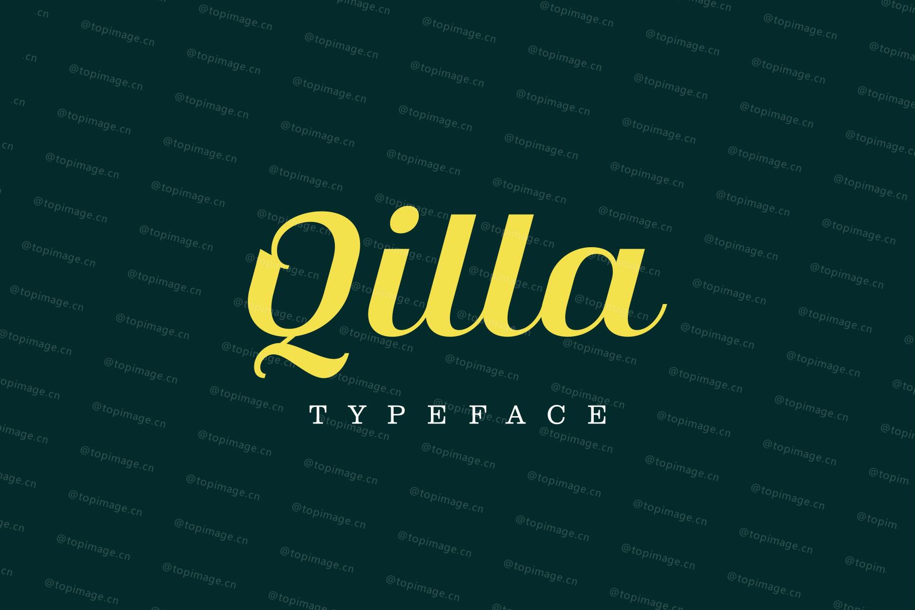 Qilla Slant时尚传统logo好看的英文字体下载