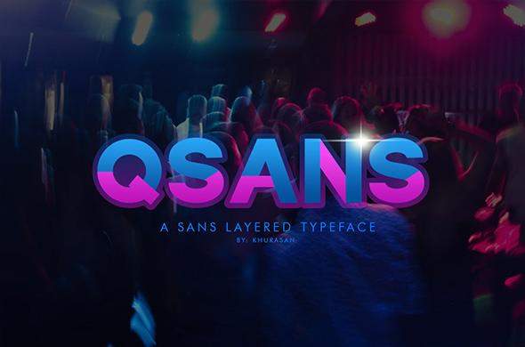 Qsans现代无衬线科技英文字体下载