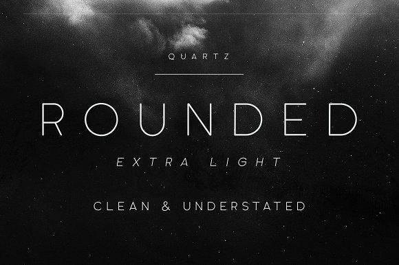 Quartz Grotesque 现代干净简洁logo英文字体下载大全