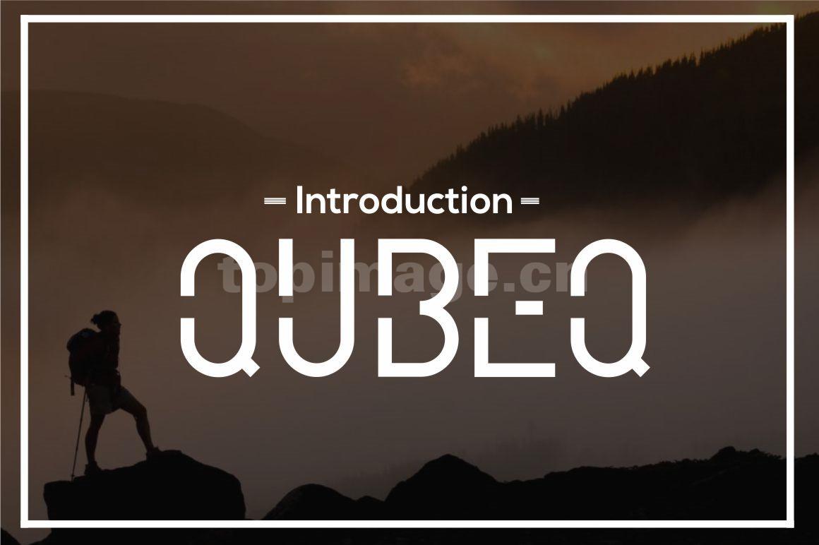 Qubeq Modern 时尚简约现代英文海报字体下载