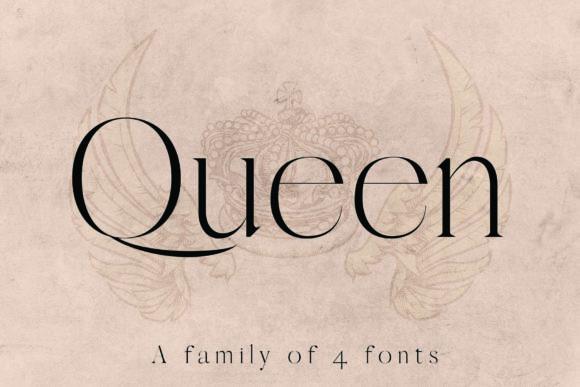 Queen2极细衬线logo设计师英文字体下载
