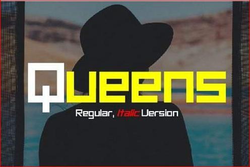 Queens现代无衬线英文字体下载