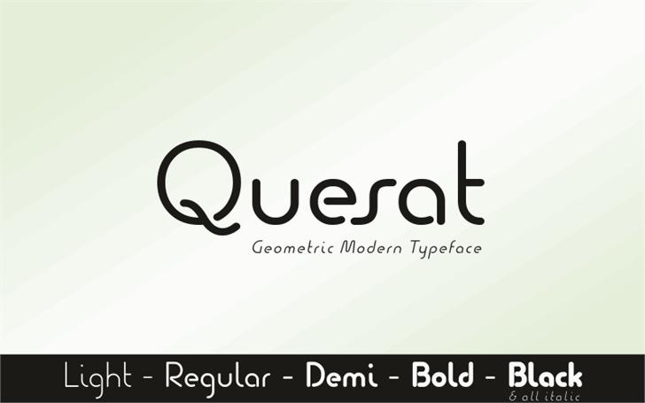 Quesat圆润创意logo英文字体下载