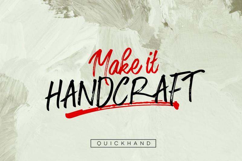 Quickhand个性笔刷恐怖手写英文字体下载