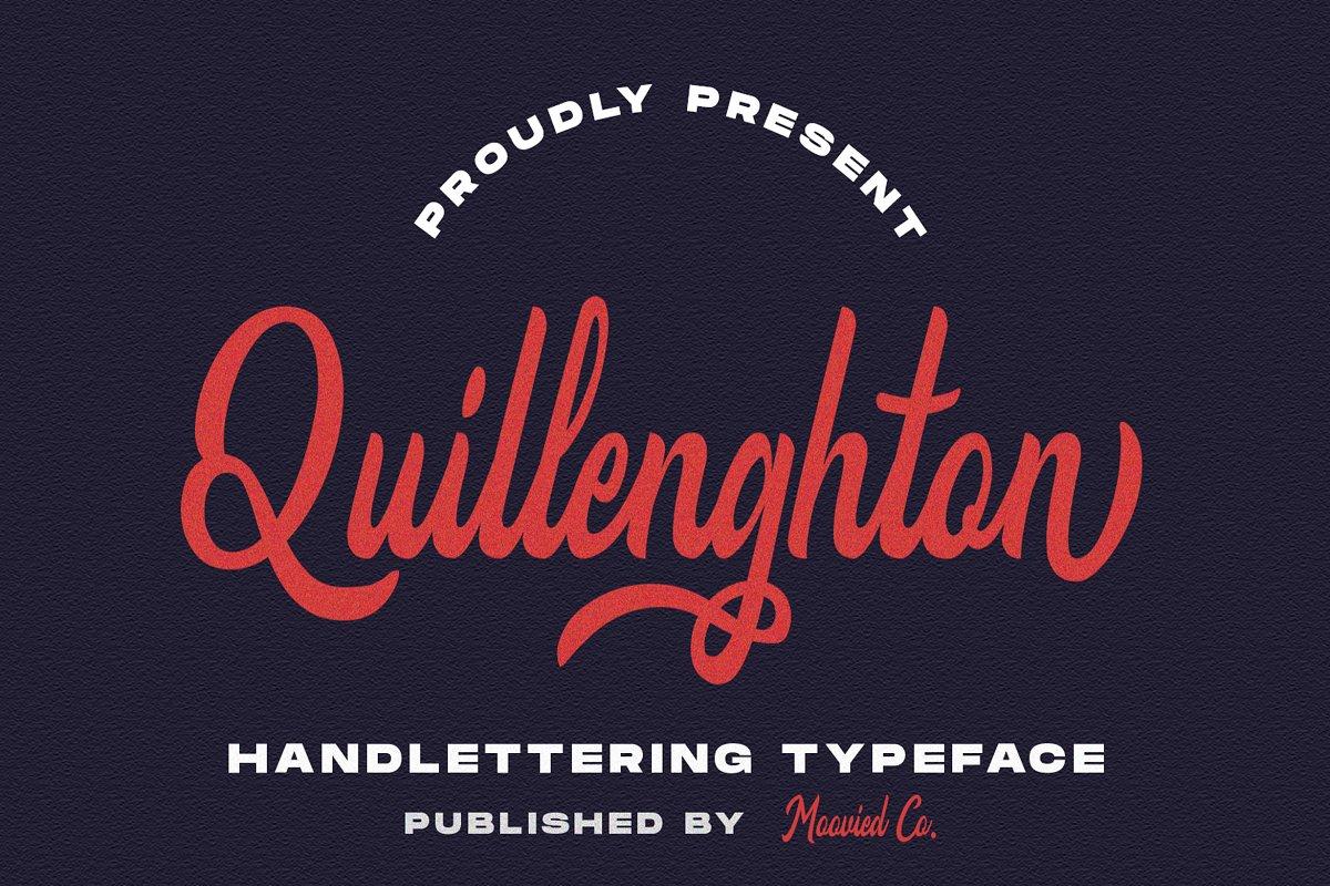 Quillenghton手写时尚好看的连笔英文字体下载