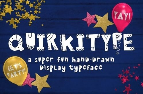 Quirkitype卡通可爱手写儿童英文字体下载