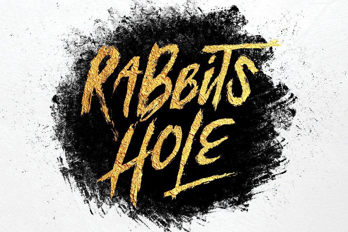 RabbitsHole街头嘻哈手写英文字体下载(含肌理素材)