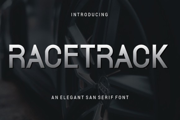 Racetrack创意科技海报现代无衬线logo英文字体下载