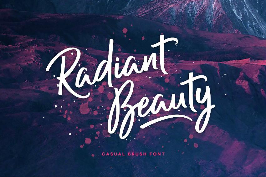 Radiant Beauty手写婚礼连笔菜单英文字体下载