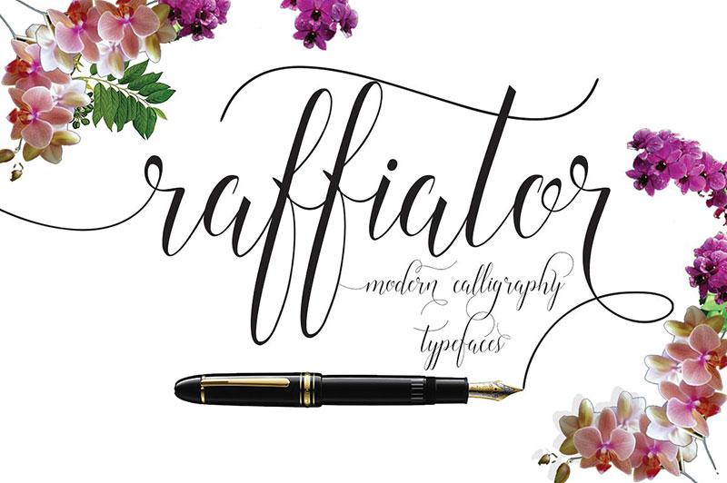 Raffiator唯美海报花式手写英文字体下载