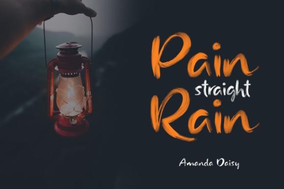 Rainly笔触书法纹理最新svg英文字体下载