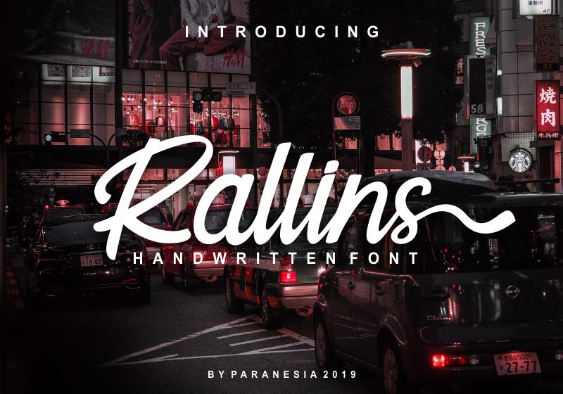 Rallins手写英文字体下载