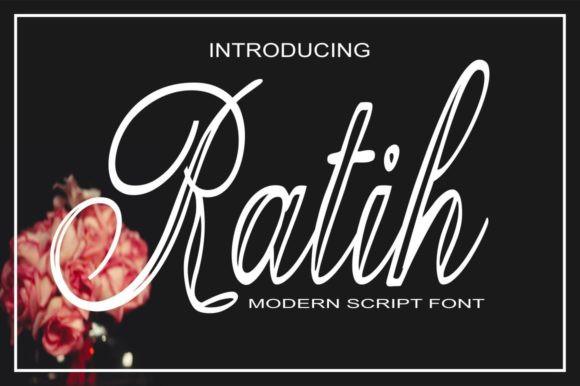 Ratih手写连笔现代涂鸦线性英文字体下载