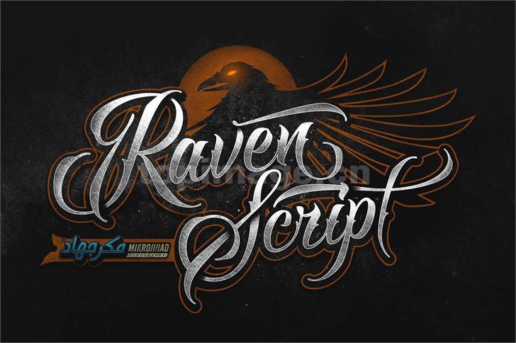 raven哥特式游戏纹身飘逸感个性海报英文字体下载